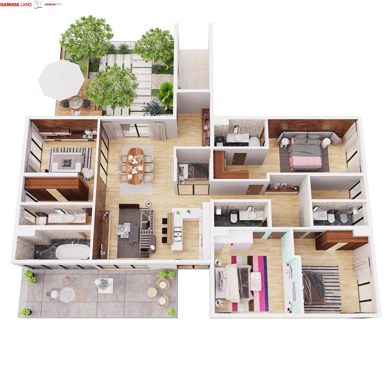 Thiết kế căn hộ PenHouse 221M2