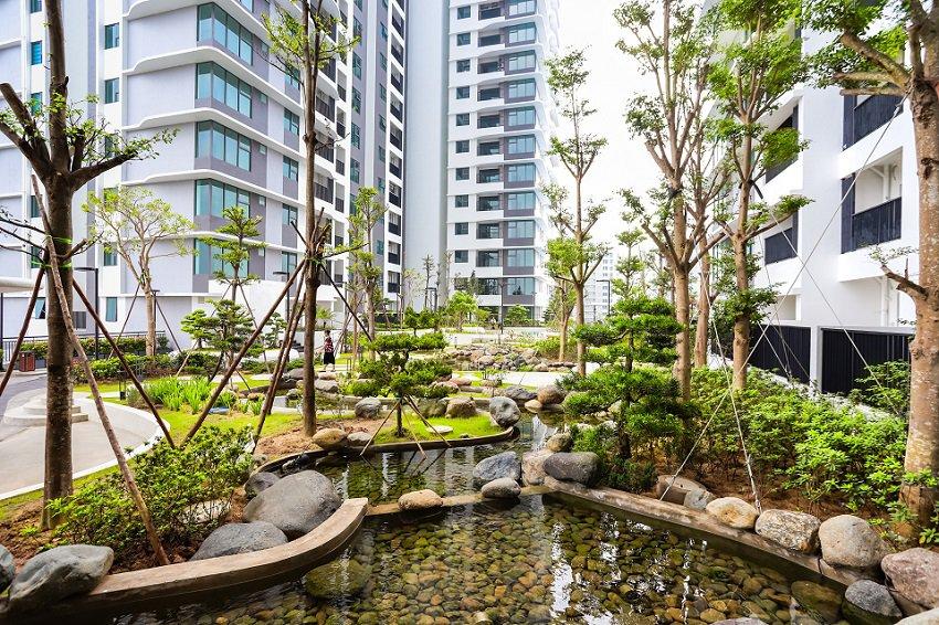 Tiểu cảnh sân vườn chung cư The Zen Gamuda
