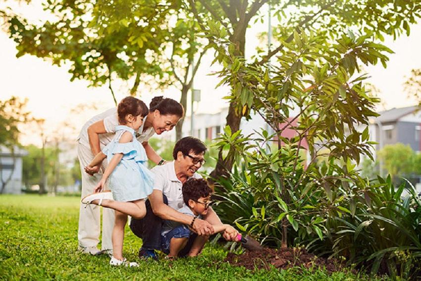 Không gian xanh cho trẻ tại Gamuda Garden