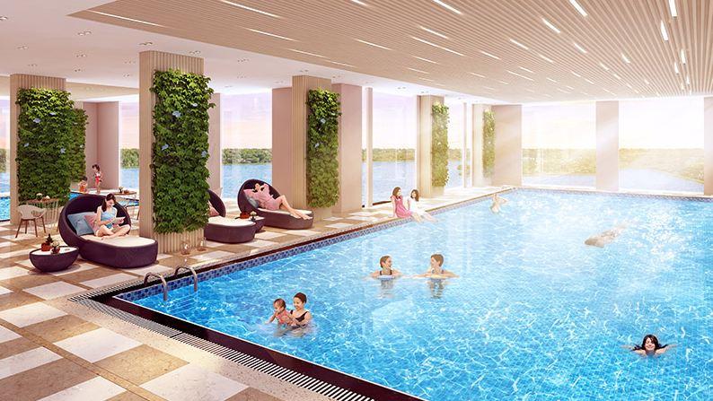 Bể bơi trong nhà Chung cư the dandelion Yên Sở