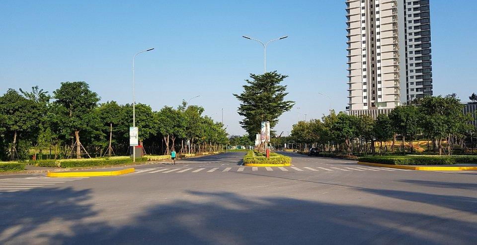 cổng chính vào dự án gamuda gardens