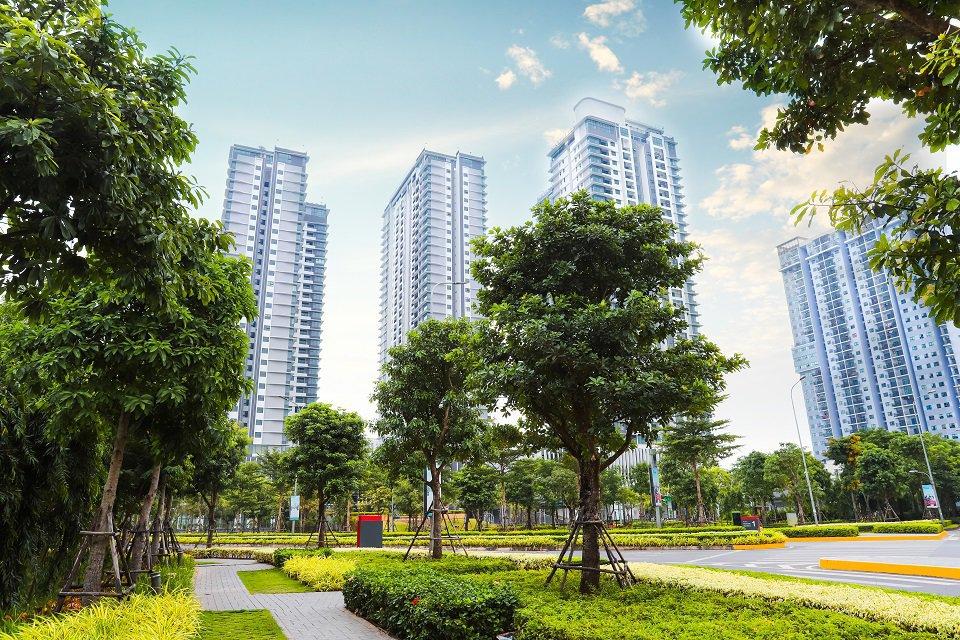 Khuôn viên xanh khu chung cư Zen gamuda