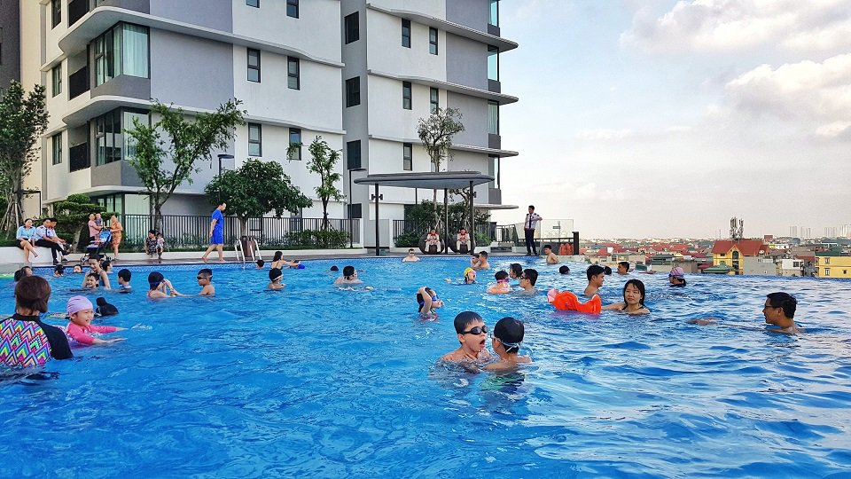 Bể bơi chung cư zen gamuda