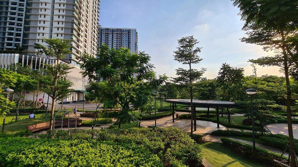 Khuôn viên xanh chung cư Gamuda